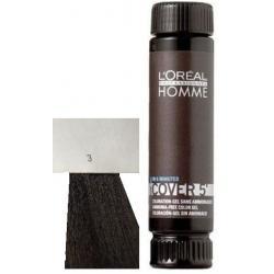 Loreal Professionnel Homme Cover 5 Hair Color 1 lahvička 50ml - 3 Tmavě hnědá