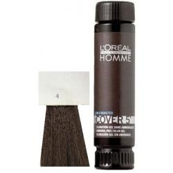 Loreal Professionnel Homme Cover 5 Hair Color 1 lahvička 50ml - 4 Středně hnědá