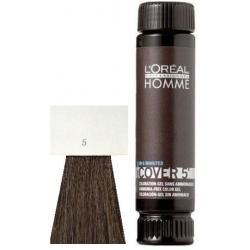 Loreal Professionnel Homme Cover 5 Hair Color 1 lahvička 50ml - 5 Světle hnědá