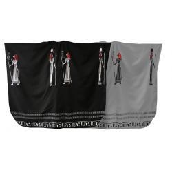 Pláštěnka na stříhání - Egypt černá/šedá