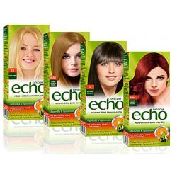 Echo barva na vlay SET 60ml+peroxid 60ml+šampon 20ml + Maska 20ml,rukavice